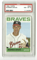 Baseball Cards:Singles (1960-1969), 1964 Topps Warren Spahn #400 PSA NM-MT 8. Great card from late in the HOF hurler's career, this Spahn card boasts excellent...