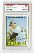 Baseball Cards:Singles (1960-1969), 1967 Topps Brooks Robinson #600 PSA EX-MT 6. Clean card of the HOFOriole. Slight rounding of the bottom corners and a shi...