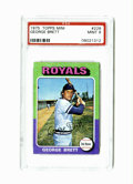 Baseball Cards:Singles (1970-Now), 1975 Topps Mini George Brett #228 PSA Mint 9. Only four cards haveever graded higher than the coveted Brett mini-rookie of...