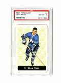 Hockey Cards:Singles (1960-1969), 1961 Parkhurst Dave Keon #5 PSA NM-MT 8. Flawless centering and clean surfaces make it easy to see why this rookie card fro...