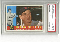 1960 Topps Harmon Killebrew #210 PSA NM-MT 8. Here we offer the final Topps issue to feature the HOF infielder as a Wash...