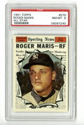 Baseball Cards:Singles (1960-1969), 1961 Topps Roger Maris #576 PSA NM-MT 8. One of the icons of baseball lore, Maris is most widely remembered for his 1961 60...