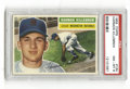 Baseball Cards:Singles (1950-1959), 1956 Topps Harmon Killebrew #164 PSA NM-MT 8. Wonderful centering is immediately apparent on this '56 HOF card. This card ...