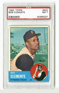 Baseball Cards:Singles (1960-1969), 1963 Topps Roberto Clemente #540 PSA NM 7. One of the mostattractive cards of Puerto Rican legend and HOF outfielder Rober...