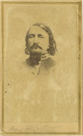Military & Patriotic:Civil War, CDV PHOTOGRAPH CONFEDERATE GENERAL GEORGE E. PICKETT CA 1860S....