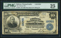 National Bank Notes:Pennsylvania, Bolivar, PA - $10 1902 Plain Back Fr. 635 The Citizens NB Ch. #12355. ...