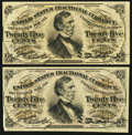Fractional Currency:Third Issue, Two Fessenden Fractionals. . ... (Total: 2 notes)