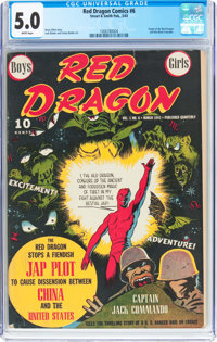 Red Dragon Comics #6 (Street & Smith, 1943) CGC VG/FN 5.0 White pages
