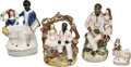 Antiques:Black Americana, Uncle Tom's Cabin: Staffordshire Figurines [4].... (Total: 4 Items)
