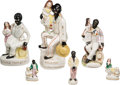 Antiques:Black Americana, Uncle Tom's Cabin: Six Staffordshire Figurines.... (Total: 6 Items)