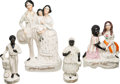 Antiques:Black Americana, Uncle Tom's Cabin: Four Staffordshire Figurines.... (Total: 4Items)