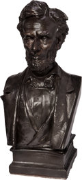 Antiques:Decorative Americana, Abraham Lincoln: Plaster Bust by Max Bachmann....