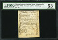 Colonial Notes:Massachusetts, Massachusetts December 7, 1775 Contemporary Counterfeit 36s PMGAbout Uncirculated 53.. ...