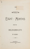 Books:Americana & American History, Bunky [pseudonym for Irvin Geffs]. The First Eight Months ofOklahoma City. Oklahoma City: The McMaster Printing...