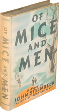 "Books:Literature 1900-up, John Steinbeck. Of Mice and Men. New York: Covici Friede,[1937]. First edition, first issue (with ""pendula"" on page..."