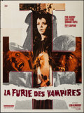 "Movie Posters:Horror, The Werewolf vs. Vampire Woman (Audifilm, 1973). French Grande (47"" X 63""). Horror.. ..."