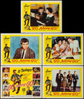 "Movie Posters:Rock and Roll, Go, Johnny, Go! (Hal Roach, 1959). Title Lobby Card & LobbyCards (4) (11"" X 14""). Rock and Roll.. ... (Total: 5 Items)"