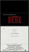 "Movie Posters:Science Fiction, Return of the Jedi (20th Century Fox, 1983). World Premiere EventTickets (2) (9"" X 8"") DS. Science Fiction.. ... (Total: 2 Items)"