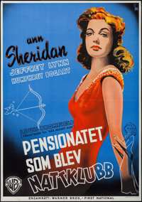"It All Came True (Warner Brothers, 1940). Swedish One Sheet (27.5"" X 39.25""). Crime"