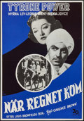 "Movie Posters:Adventure, The Rains Came (20th Century Fox, R-1947). Swedish One Sheet (27.5""X 39.5""). Adventure.. ..."