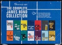 Vintage 007: The Complete James Bond Collection (Vintage, 2014). Unopened Paperback Book Set with Shelving Case (5.25&qu...