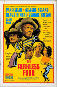 "The Ruthless Four & Others Lot (Goldstone Film Enterprises, 1968). One Sheets (4) (27"" X 41""). Western..."