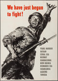 "Movie Posters:War, World War II Propaganda (U.S. Government Printing Office, 1943).OWI Poster # 62 (28.5"" X 40"") ""We have Just Begun To Fight!..."