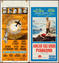 "Movie Posters:Adventure, The Flight of the Phoenix & Other Lot (20th Century Fox, 1966).Italian Locandinas (2) (13"" X 27.5""). Adventure.. ... (Total: 2Items)"