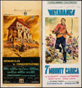 """Movie Posters:Adventure, Genghis Khan & Other Lot (Columbia, 1965). Italian Locandinas(2) (12.5"""" X 27.5"""" & 13"""" X 27.5""""). Adventure.. ... (Total: 2Items)"""