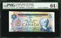 Canadian Currency: , BC-48b $5 1972 Cutting Error. ...