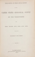 Books:Americana & American History, F. V. Hayden. United States Geological and Geographical Surveyof the Territories. Washington, D.C.: 1870-1877. ... (Total: 10Items)