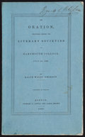 Books:Literature Pre-1900, Ralph Waldo Emerson. An Oration, Delivered Before theLiterary Societies of Dartmouth College, July 24, 1838....
