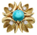 Estate Jewelry:Rings, Turquoise, Diamond, Gold Ring, Cartier. ...