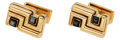 Estate Jewelry:Cufflinks, Hematite, Gold Cuff Links, Aldo Cipullo for Cartier, 1972. ... (Total: 2 Items)