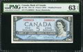 Canadian Currency: , BC-39c $5 1954 Serial Number 10. ...