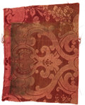 """Political:Presidential Relics, [Abraham Lincoln]: Fabric from the White House """"Red Room""""...."""