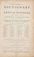 Books:Reference & Bibliography, The Complete Dictionary of Arts and Sciences. London:1764-1766. First edition.... (Total: 3 Items)