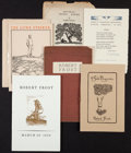 Books:Literature 1900-up, Robert Frost. Group of Six Ephemeral Items. [New York andelsewhere]: [1924]-1946. First editions, one signed.... (Total: 6Items)
