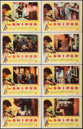 """Movie Posters:Crime, The Sniper (Columbia, 1952). Lobby Card Set of 8 (11"""" X 14"""").Crime.. ... (Total: 8 Items)"""