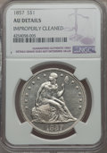 Seated Dollars, 1857 $1 -- Improperly Cleaned -- NGC Details. AU. OC-2....