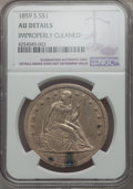 Seated Dollars, 1859-S $1 -- Improperly Cleaned -- NGC Details. AU. OC-1....
