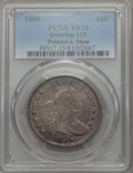 Early Half Dollars, 1806 50C Pointed 6, Stem, O-115, T-17, R.1, VF35 PCGS....