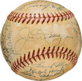 Baseball Collectibles:Balls, 1951 New York Yankees Team Signed Baseball from The Gene Woodling Collection. ...