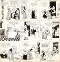 Original Comic Art:Comic Strip Art, Cliff Sterrett Polly and Her Pals Sunday Comic StripOriginal Art dated 11-10-35 (King Features Syndicate, 1935)....