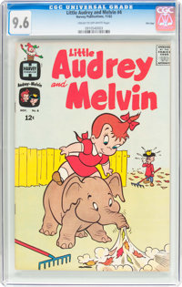 Little Audrey and Melvin #4 File Copy (Harvey, 1962) CGC NM+ 9.6 Cream to off-white pages