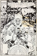Original Comic Art:Covers, James Fry and Harry Candelario Marvel Comics Presents #132Cover Ghost Rider and Luke Cage Original Art (Marvel, 1...