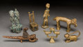 Tribal Art, AKAN, Ghana. SENUFO, Ivory Coast. Seven Figurative Goldweights andObjects... (Total: 7 Items)
