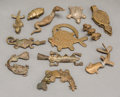 Tribal Art, AKAN, Ghana . UNIDENTIFIED PEOPLES, West Africa . Twelve FigurativeGoldweights... (Total: 12 Items)