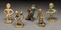 Tribal Art, AKAN, Ghana. UNIDENTIFIED PEOPLES, West Africa . Four Goldweightsand One Figurative Object... (Total: 5 Items)
