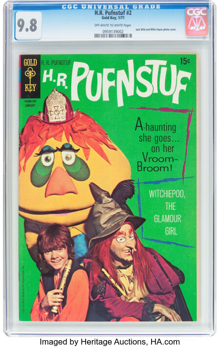 H.R. Pufnstuf #2 (Gold Key, 1971) CGC NM/MT 9.8 Off-white to white pages....